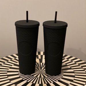 Starbucks Matte Black Studded Tumbler Set of 2